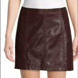 Free people faux suede modern femme skirt